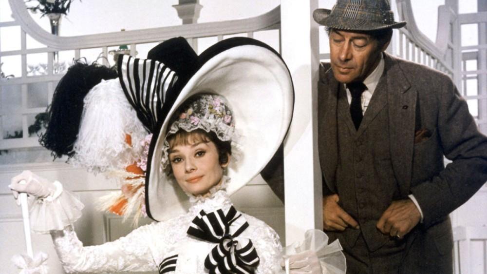 Audrey Hepburn e Rex Harrison na versão cinematográfica de My Fair Lady, de 1965 Crédito: Divulgação