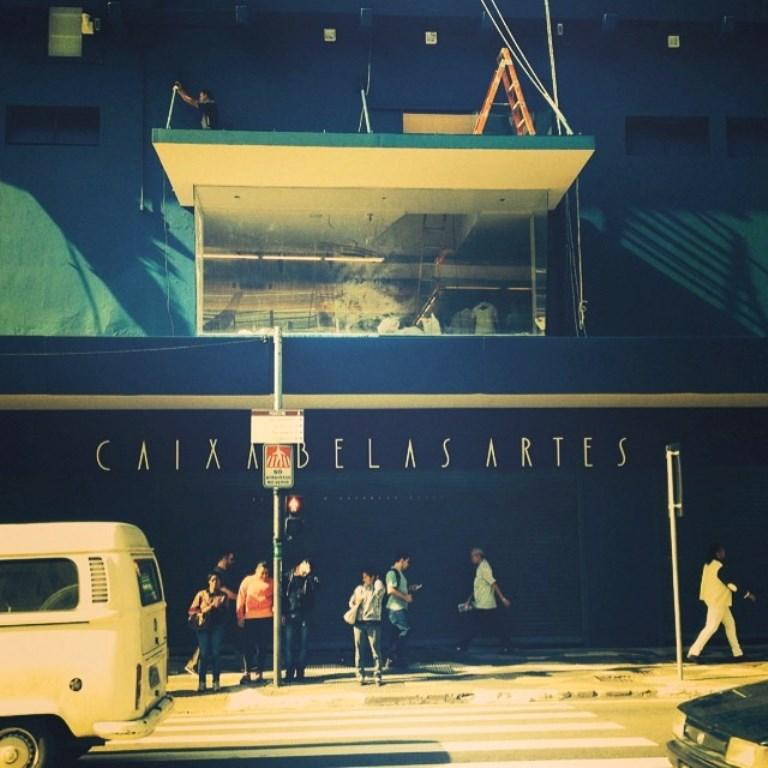 Fachada bem paulistana do cinema Caixa Belas Artes, reaberto em 2014 na Rua da Consolação, em São Paulo | Crédito: Divulgação