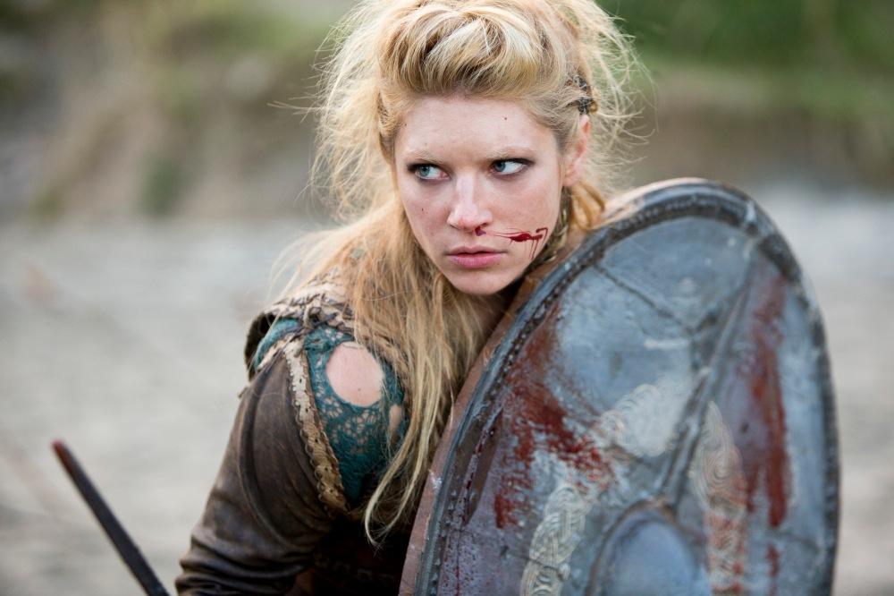 "Katheryn Winnick como a Lagherta, de ""Vikings"" | Crédito: Divulgação"