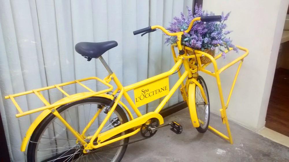 Bicicleta pomposa na entrada do SPA   Crédito: Camila Honorato