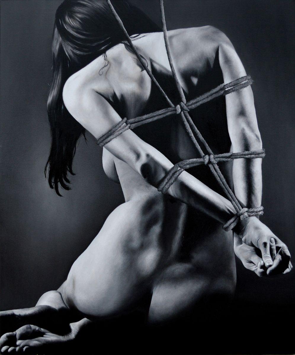 O livro dois tem aspectos interessantes do BDSM. Principalmente sobre a arte do shibari | Crédito: Marco Amore/Artmajeur