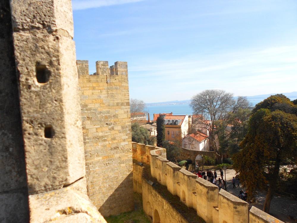 Castelo de São Jorge, Lisboa, Portugal | Crédito: Camila Honorato