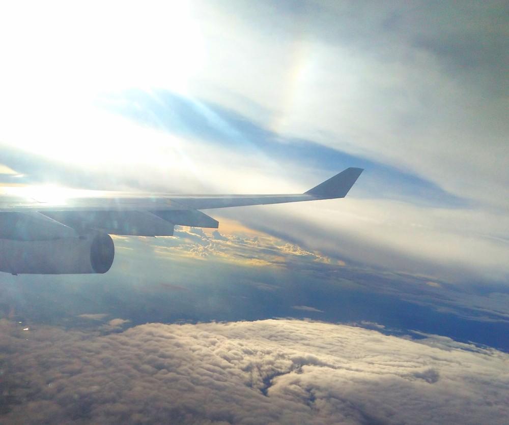 Meu primeiro vôo internacional | Crédito: Camila Honorato