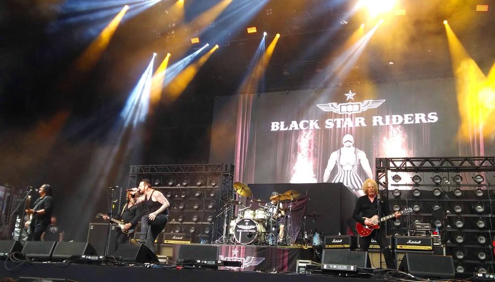 Black Star Riders durante apresentação no Solid Rock em São Paulo, no Allianz Park | Crédito: Larissa Honorato