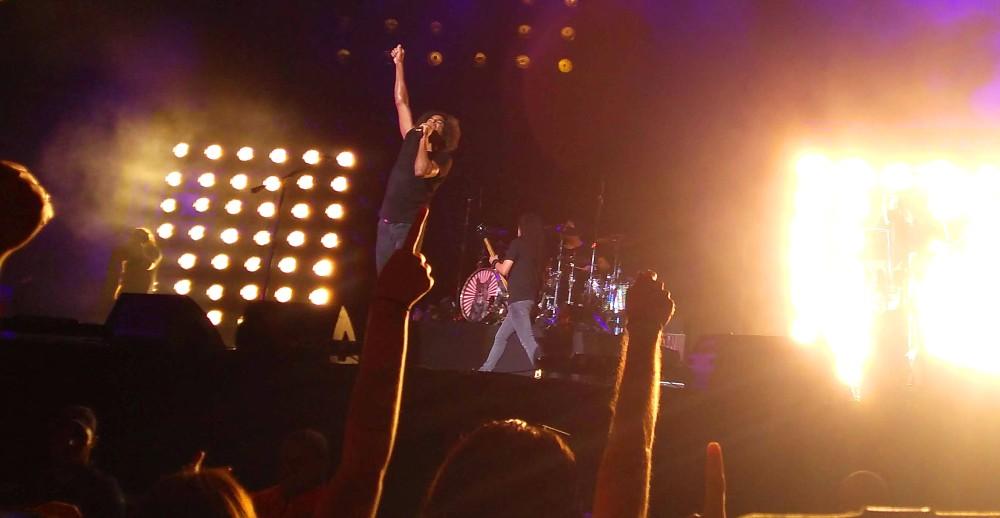 Alice in Chains durante apresentação no Solid Rock em São Paulo, no Allianz Park | Crédito: Larissa Honorato
